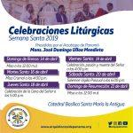 Celebraciones Litúrgicas – Semana Santa 2019