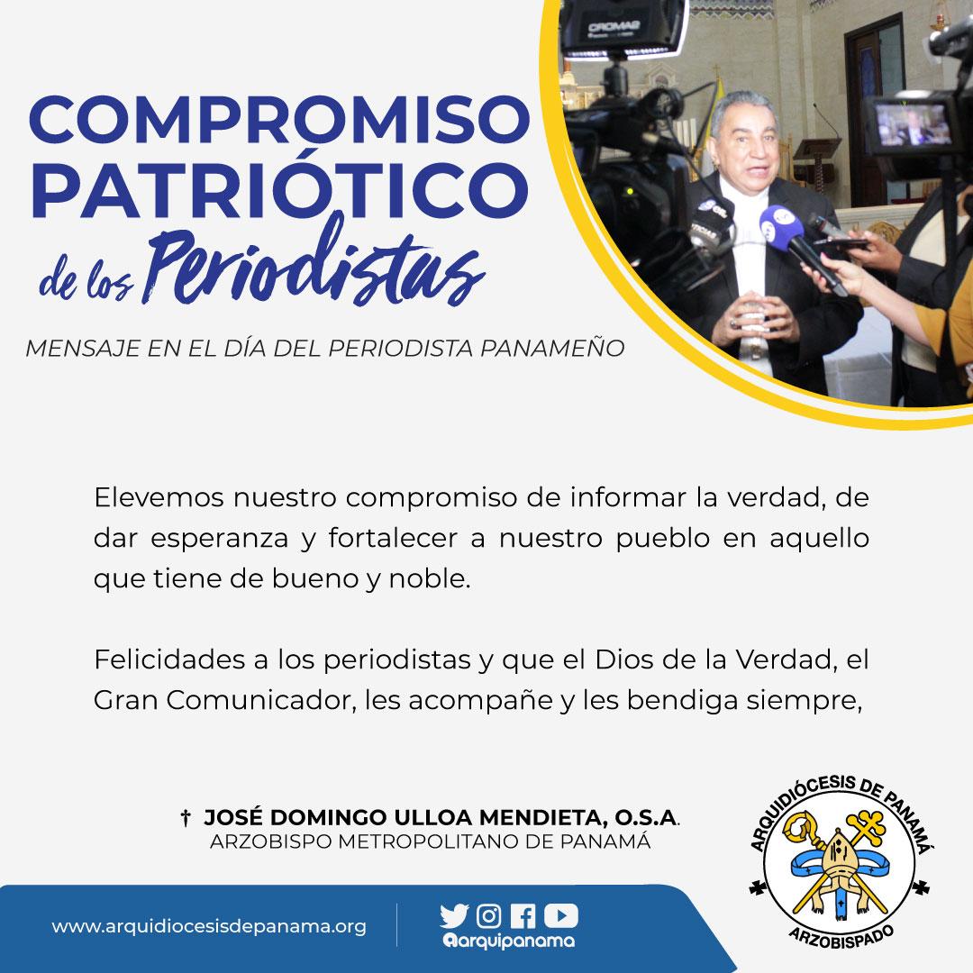 MENSAJE EN EL DÍA DEL PERIODISTA PANAMEÑO